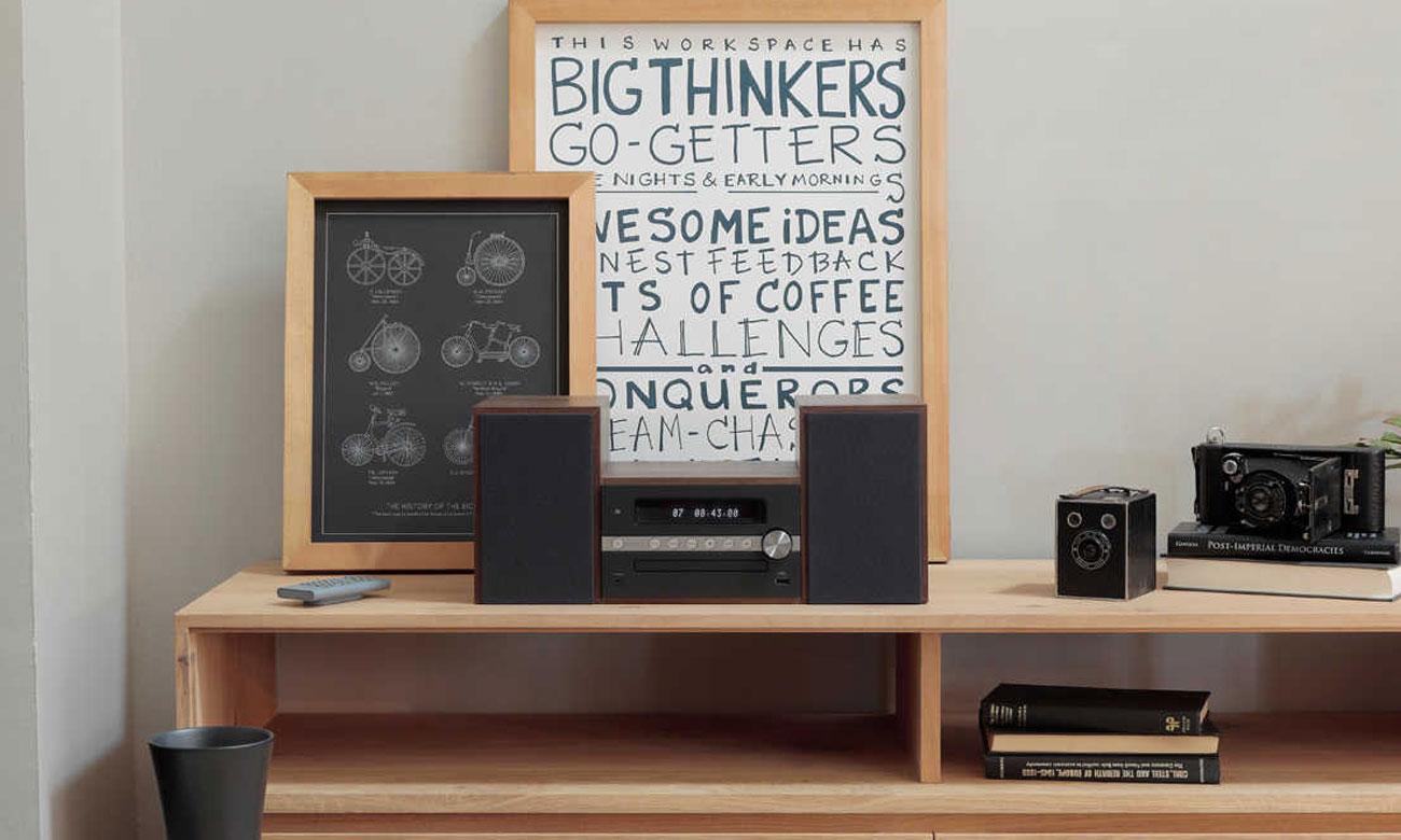 Mini wieża z funkcją budzika i regulacją dźwięku Pioneer X-CM56-B