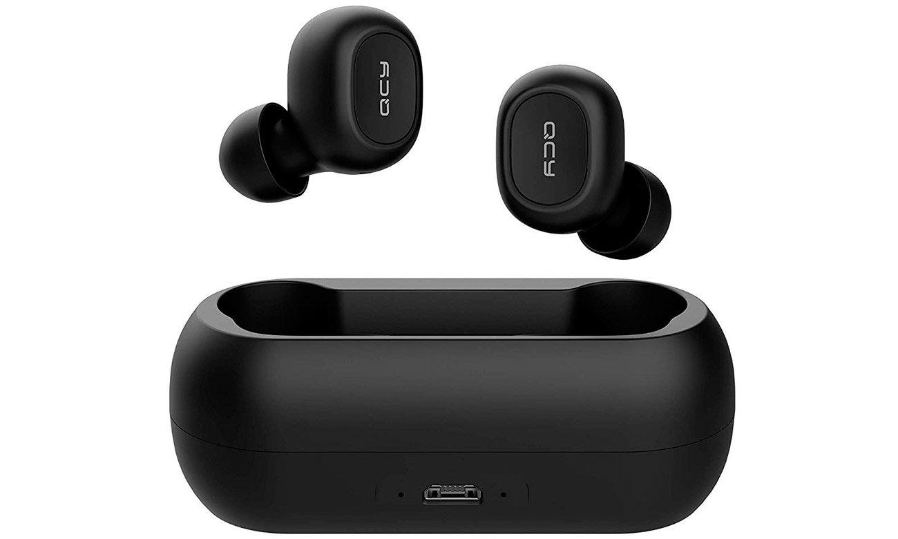 Słuchawki dokanałowe TrueWireless QCY T1 TWS czarne