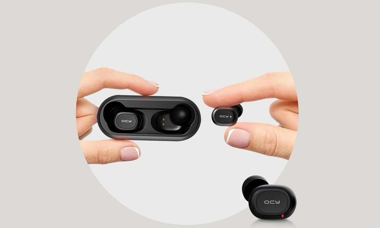 Dokanałowe słuchawki Bluetooth QCY T1 TWS