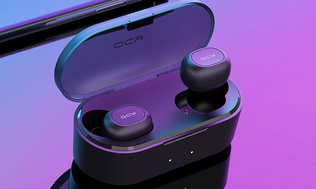 Słuchawki bezprzewodowe z etui ładującym QCY T2C TWS