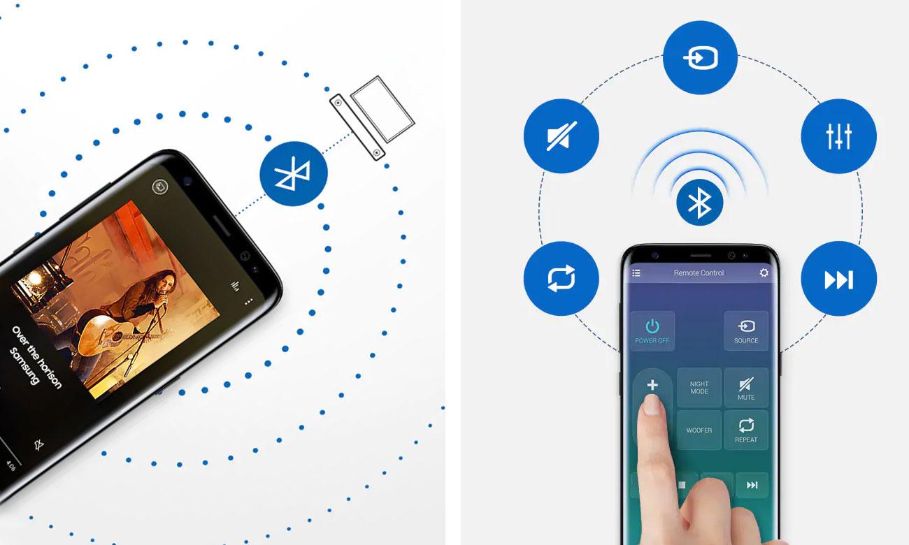 Sterowanie i łączność z soundbarem Samsung HW-N550