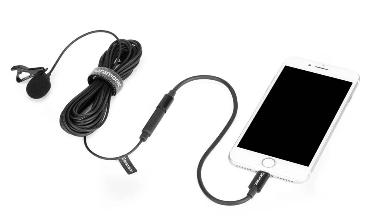 Mikrofon krawatowy Saramonic LavMicro U1B z odłączaną końcówką Lightning
