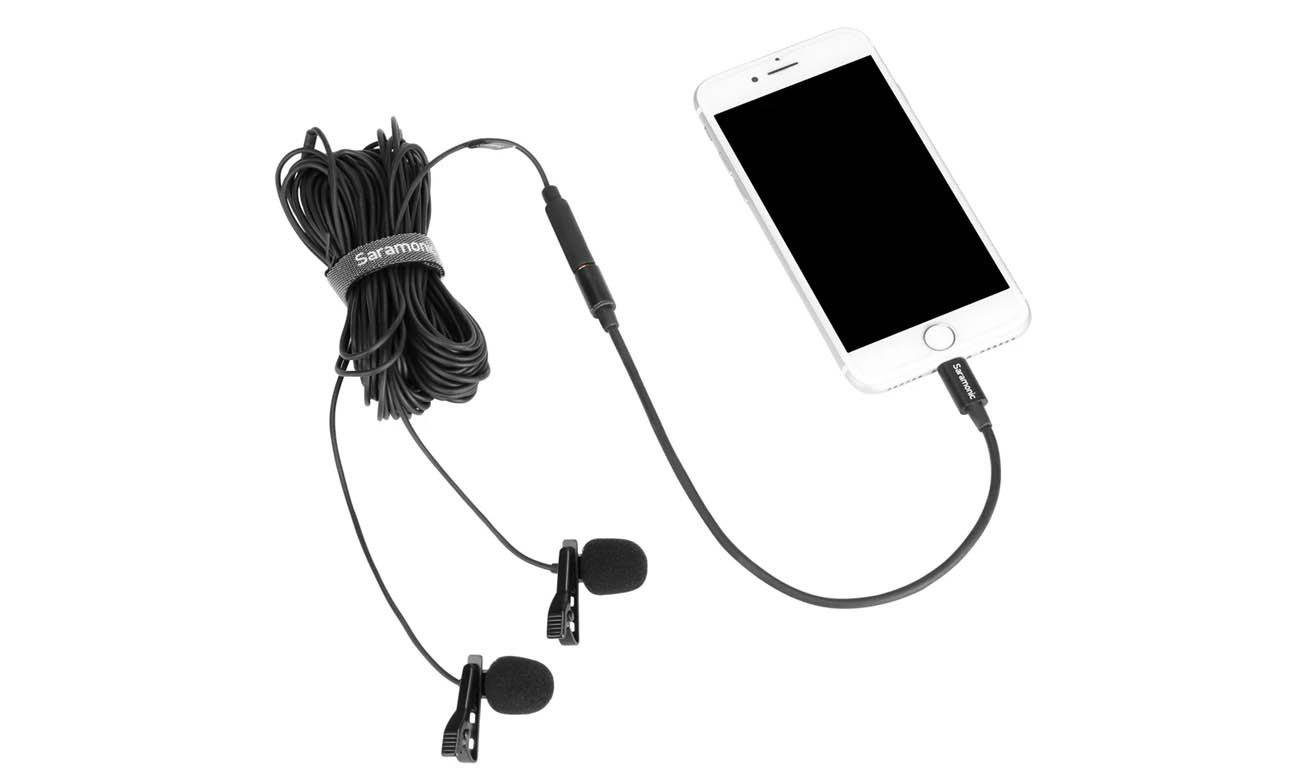 Mikrofon krawatowy Saramonic LavMicro U1C z odłączaną końcówką Lightning