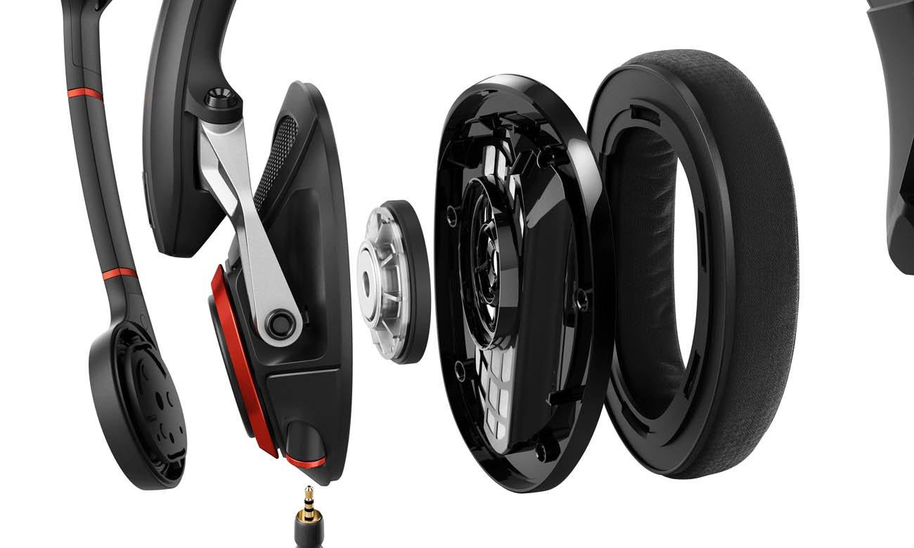 Otwarta konstrukcja słuchawek Sennheiser GSP 500