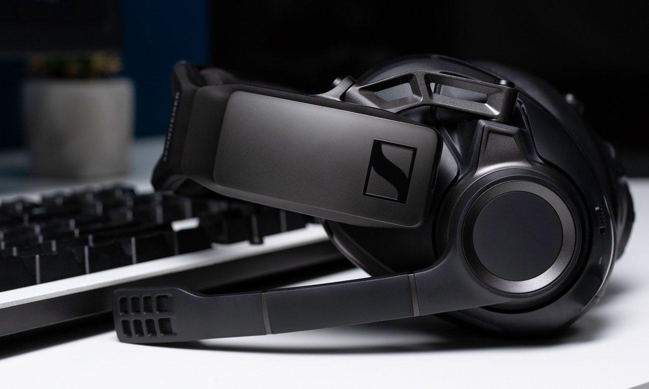 Bezprzewodowe słuchawki gamingowe Sennheiser GSP 670 z wydajnym akumulatorem