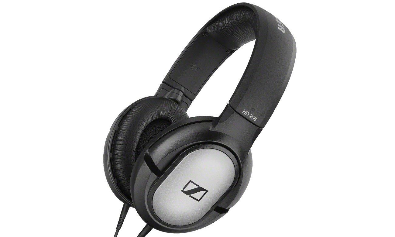 Wokółuszne słuchawki Sennheiser HD 206 czarno-srebrne