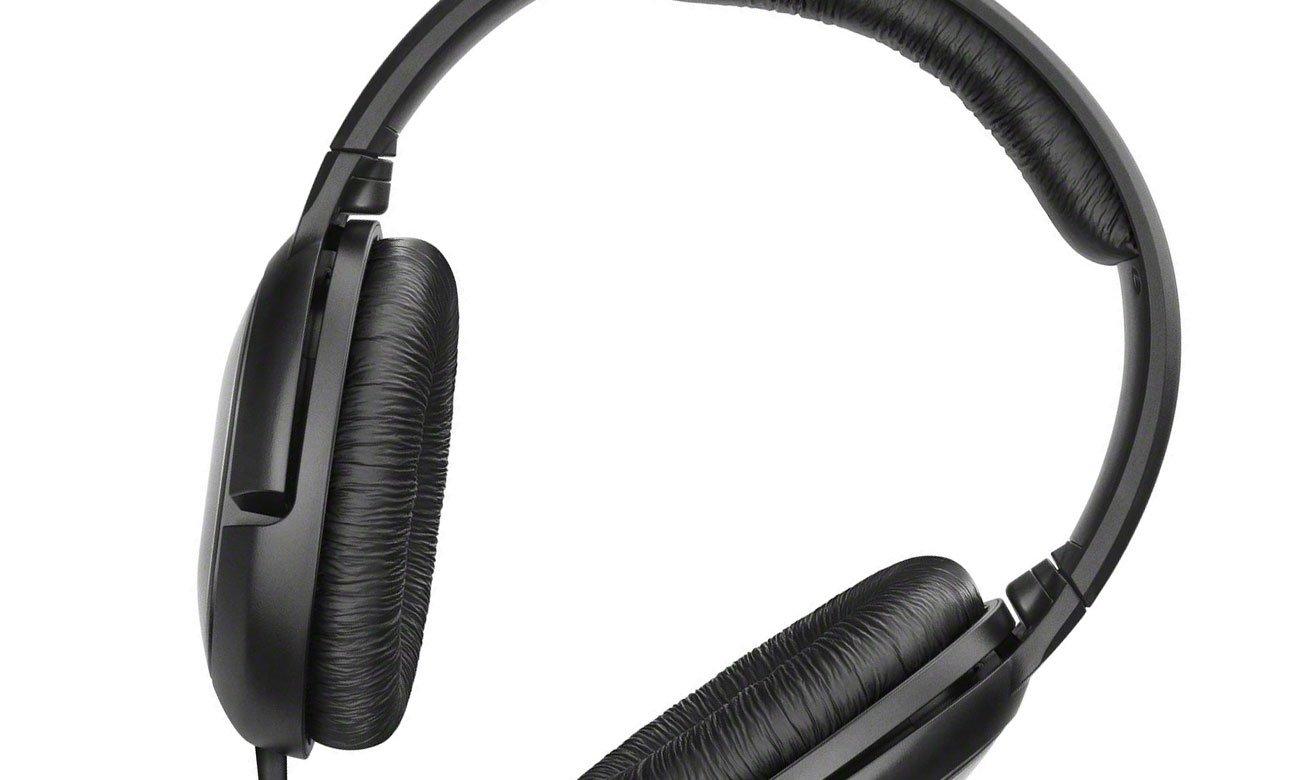 Czarne wygodne słuchawki Sennheiser HD 206
