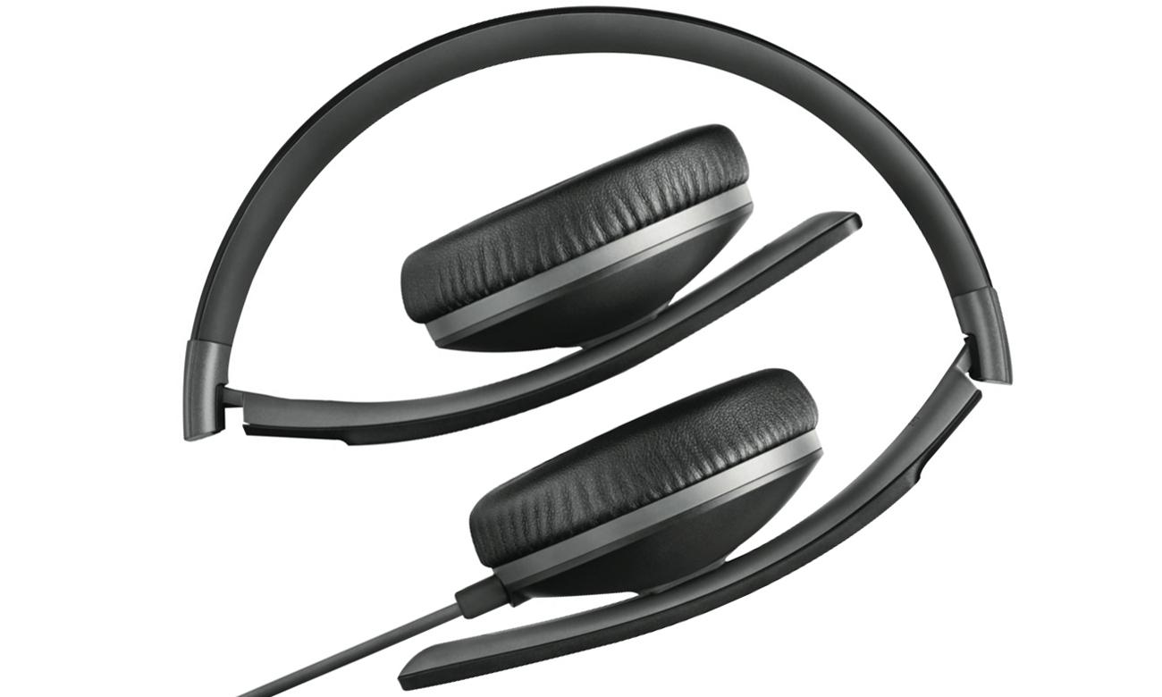 Czarne składane słuchawki Sennheiser HD 2.30 i