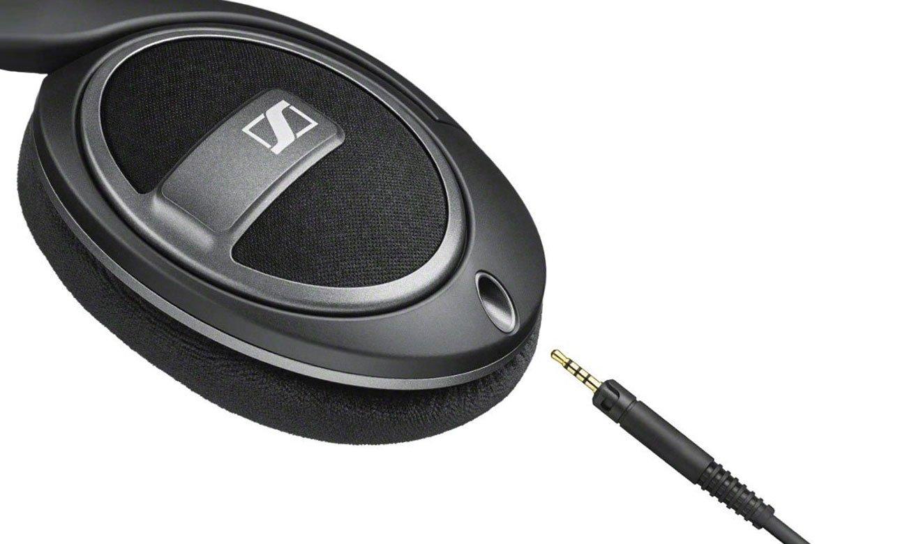 Wokółuszne słuchawki Sennheiser HD 559 z odpinanym przewodem