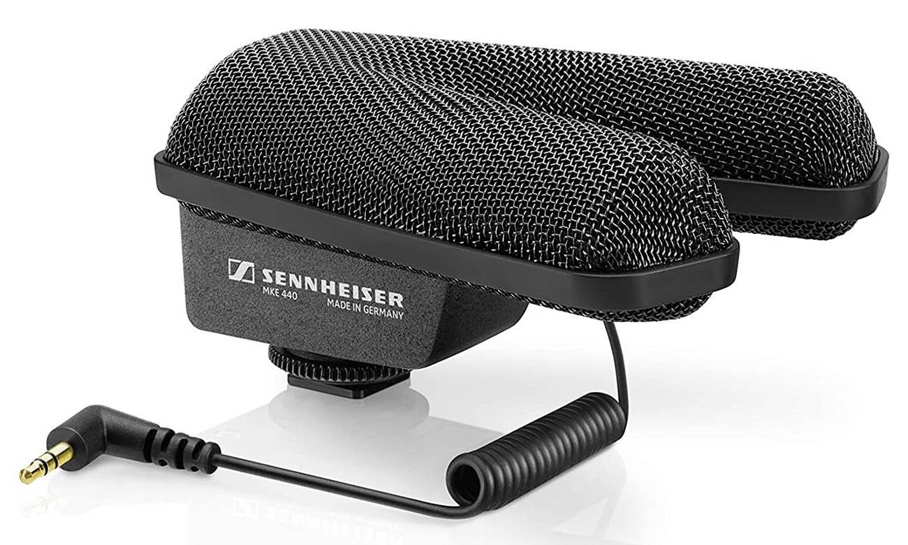 Sennheiser kompaktowy mikrofon kierunkowy MKE 440 do aparatów fotograficznych
