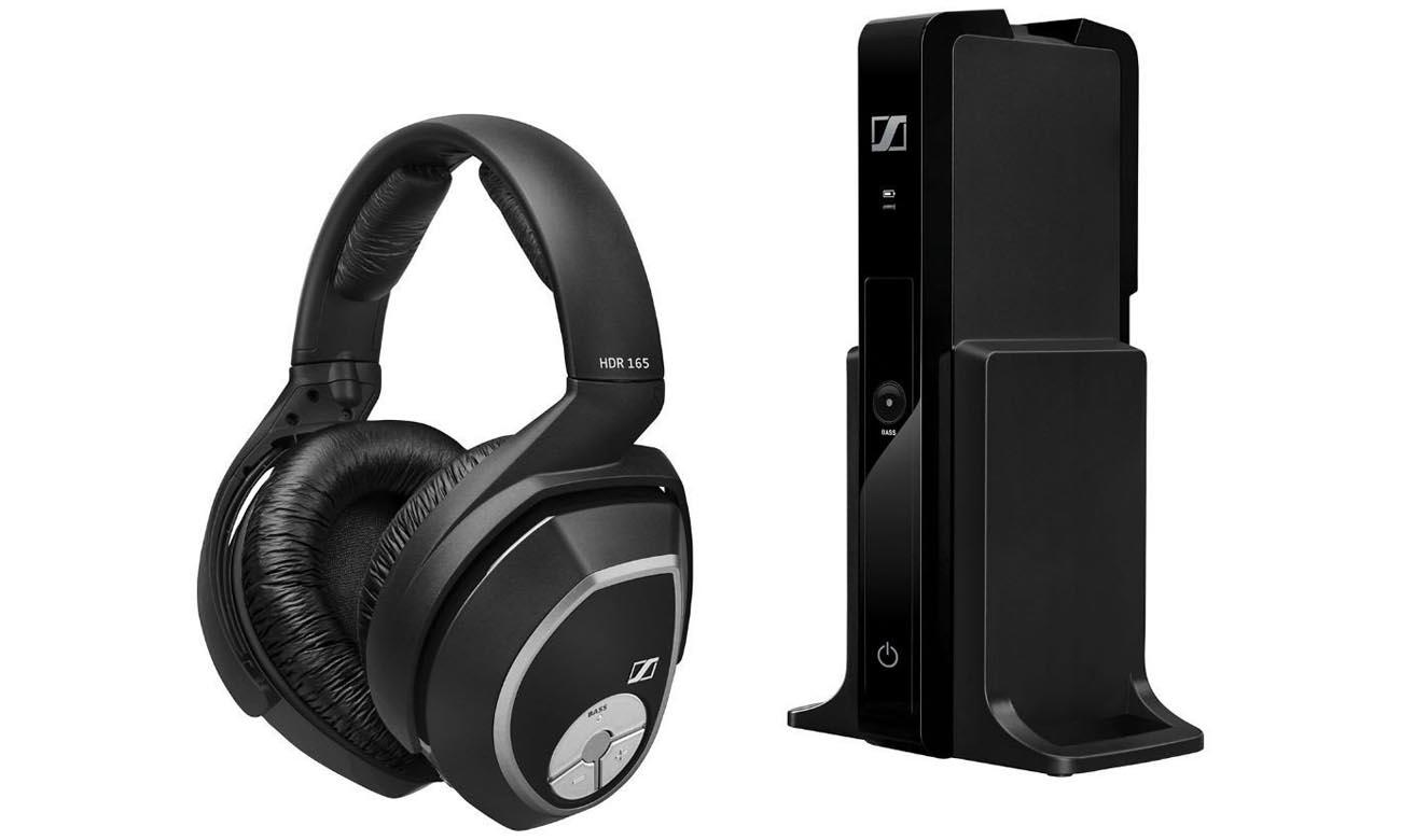 Słuchawki bezprzewodowe RS 165 Sennheiser łatwe w obsłudze
