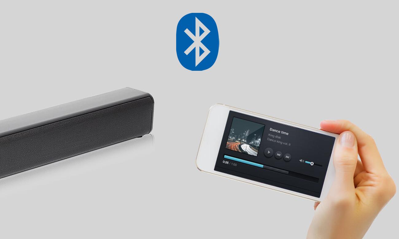 Łączność Bluetooth z listwą głośnikową Sharp HT-SBW110