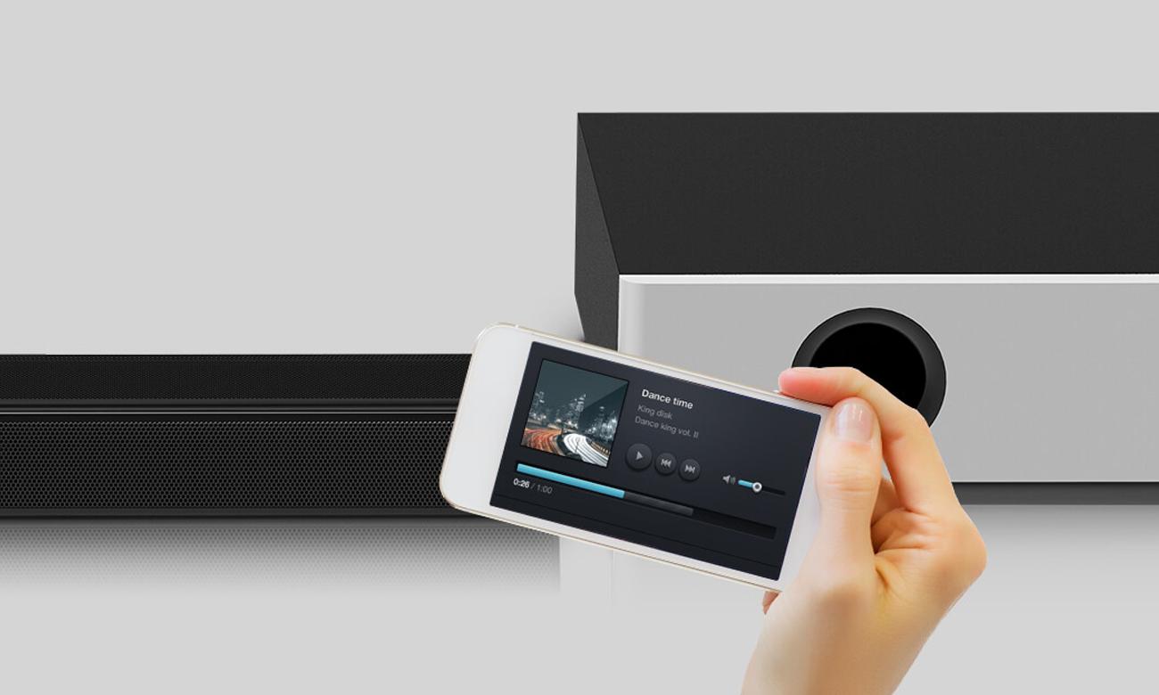 Łączność Bluetooth z listwą głośnikową Sharp HT-SBW160