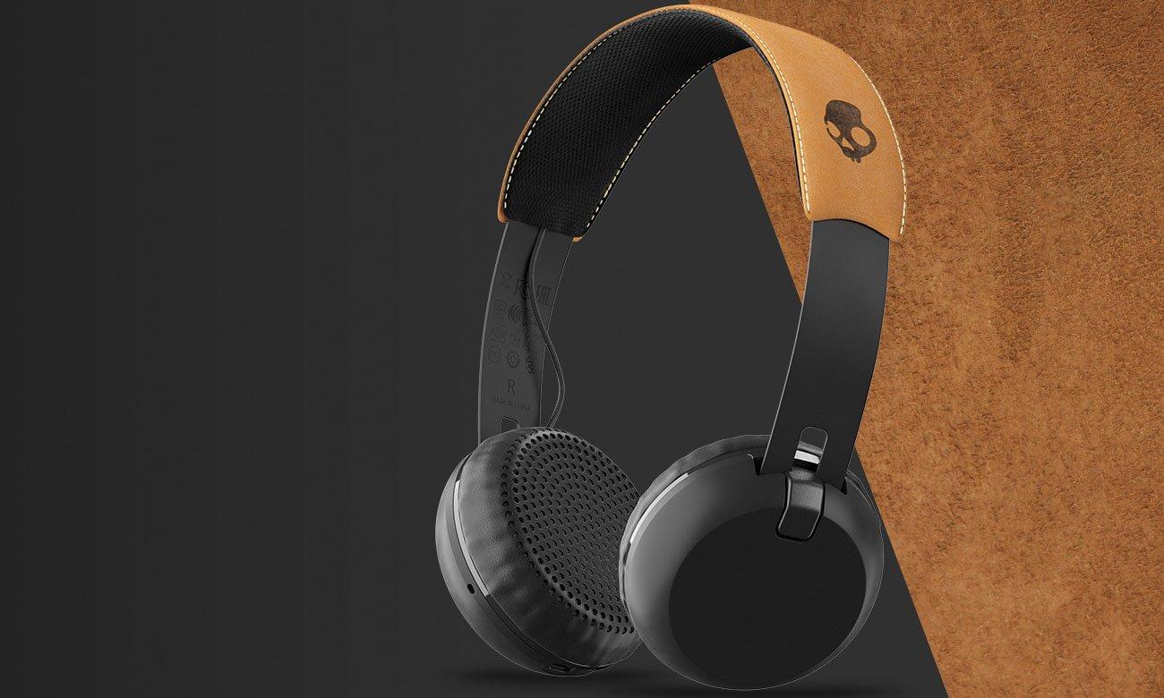 Słuchawki bezprzewodowe Skullcandy Grind Wireless czarno-brązowe