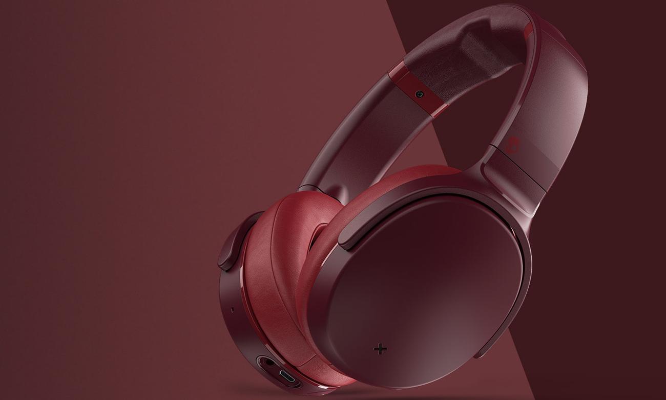 Wokółuszne słuchawki bezprzewodowe Skullcandy Venue czerwone