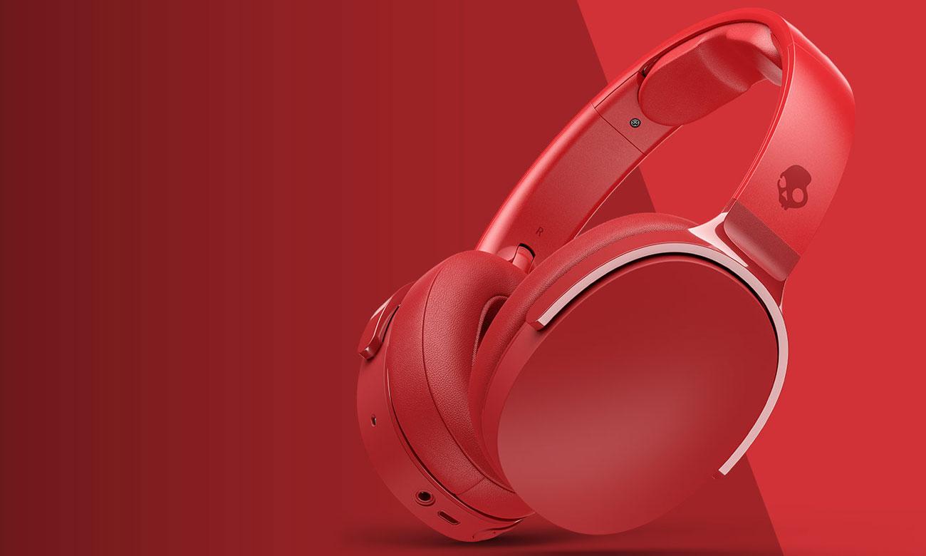 Wokółuszne słuchawki bezprzewodowe Skullcandy Hesh 3 czerwone