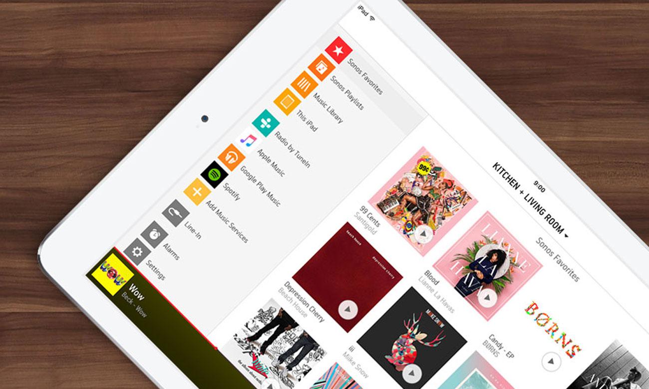Sterowanie tabletem lub smartfonem soundbaru Sonos Playbar