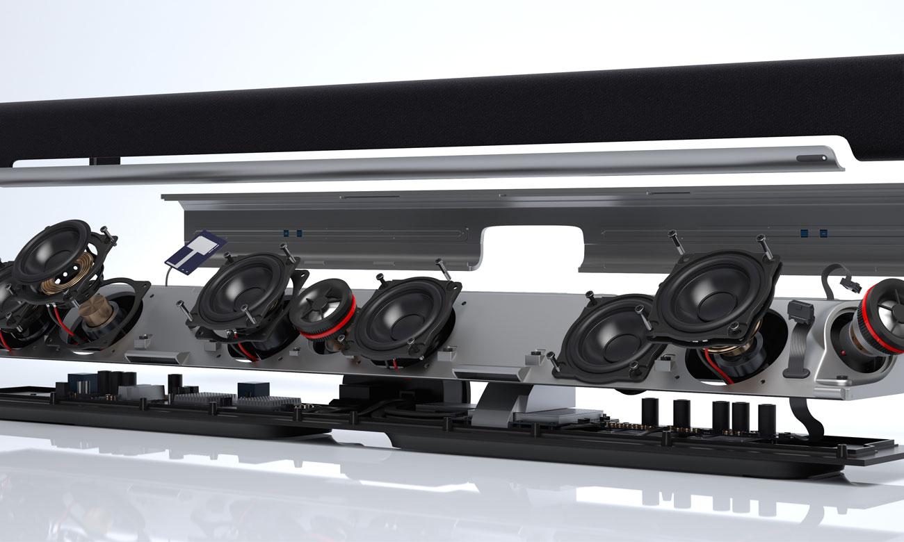 Wysokiej jakości wykonanie soundbaru Sonos Playbar