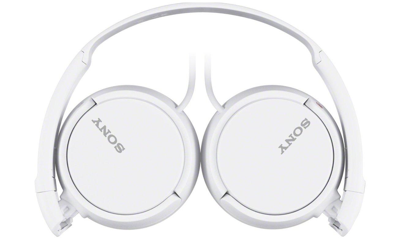 Mocny dźwięk z słuchawek nausznych Sony MDR-ZX110