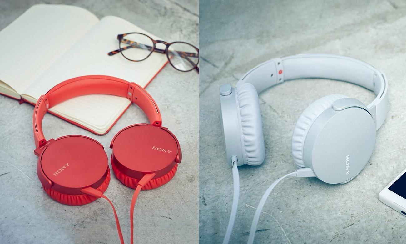 Wygodne słuchawki Sony MDR-XB550AP