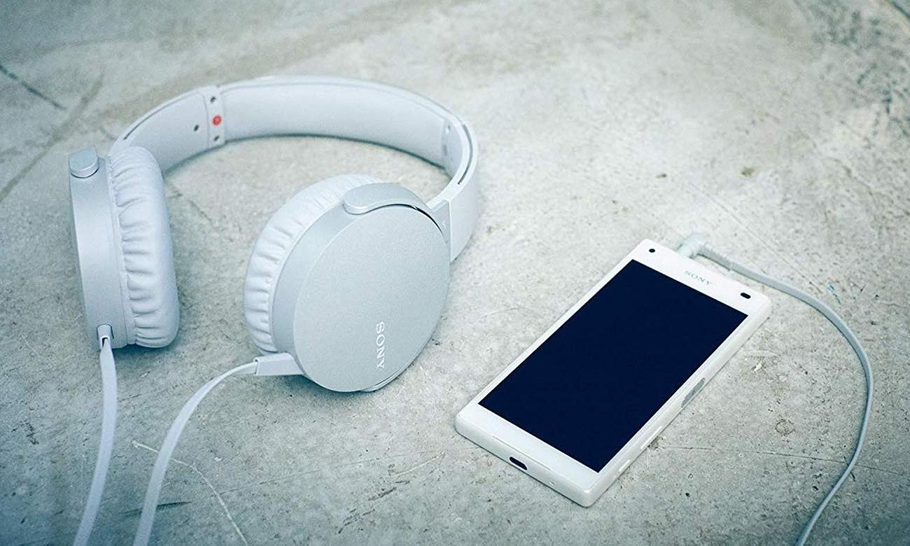 Nauszne słuchawki Sony MDR-XB550APW EXTRA BASS