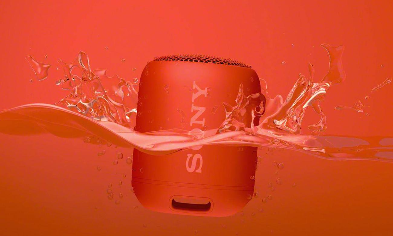 Wodoodporny głośnik bezprzewodowy SRS-XB12 Sony czerwony