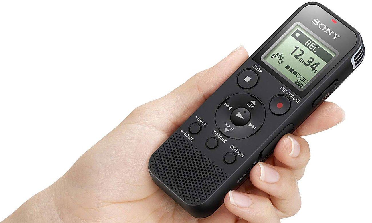 Dyktafon z czułym mikrofonem Sony ICD-PX470
