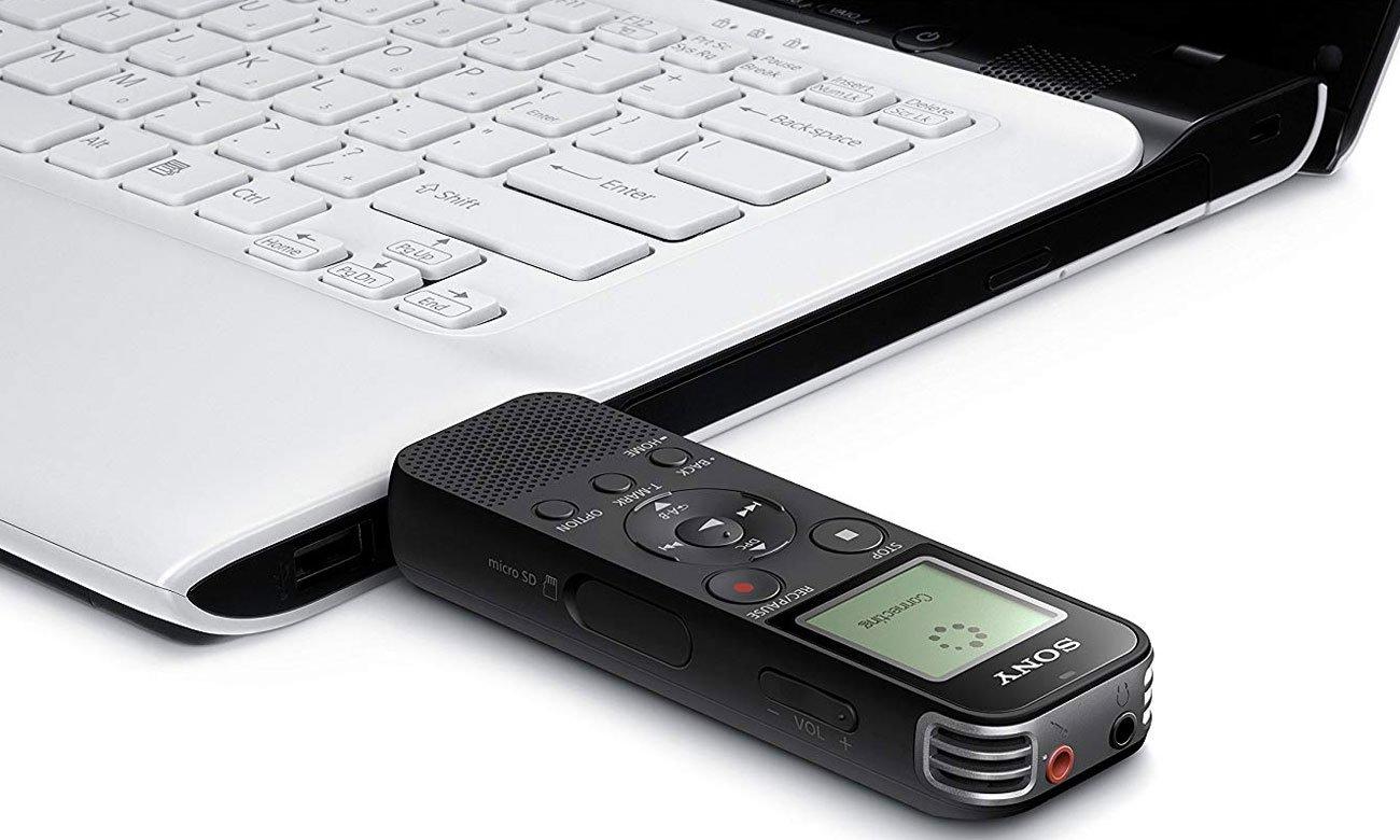 Formaty nagrywania w dyktafonie Sony ICD-PX470