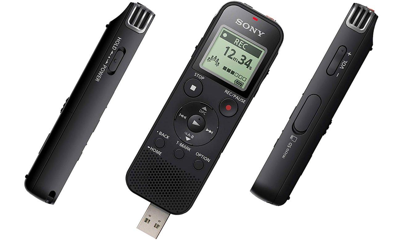 Funkcje dyktafonu cyfrowego Sony ICD-PX470