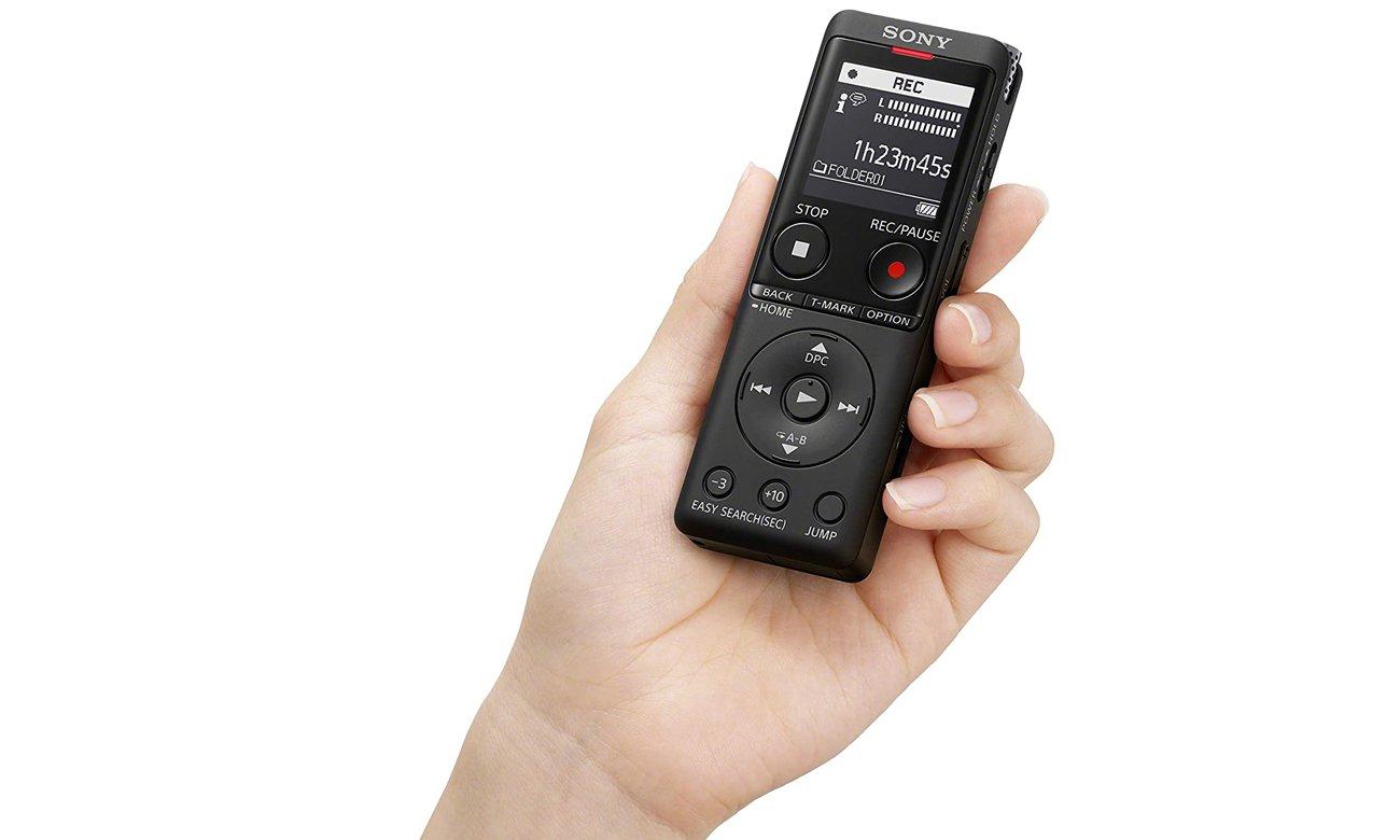 Dyktafon z czułym mikrofonem Sony ICD-UX570B