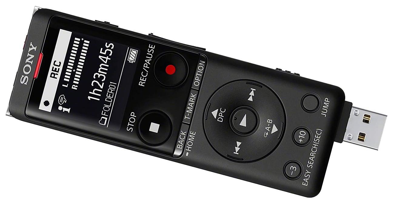 Dyktafon cyfrowy z wbudowaną pamięcią i akumulatorem Sony ICD-UX570