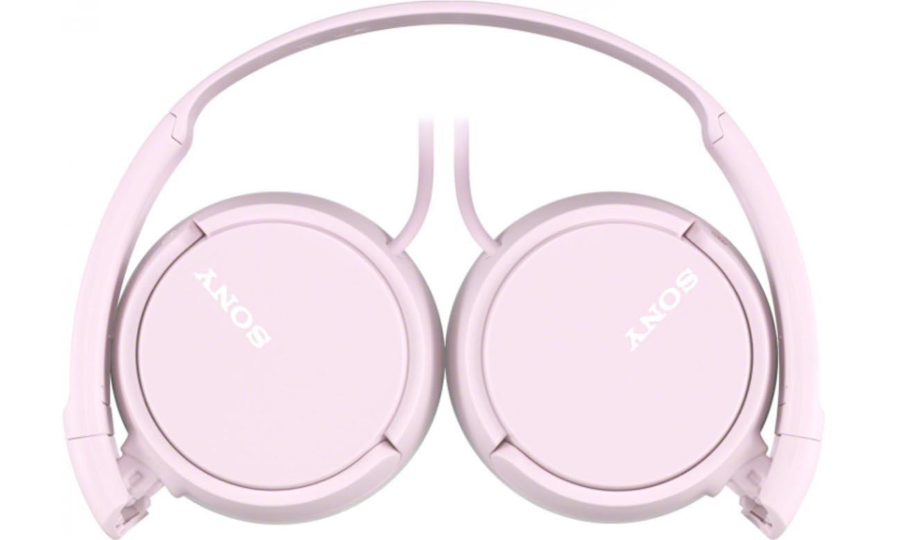 Komfortowe Słuchawki nauszne Sony MDR-ZX110AP Różowe