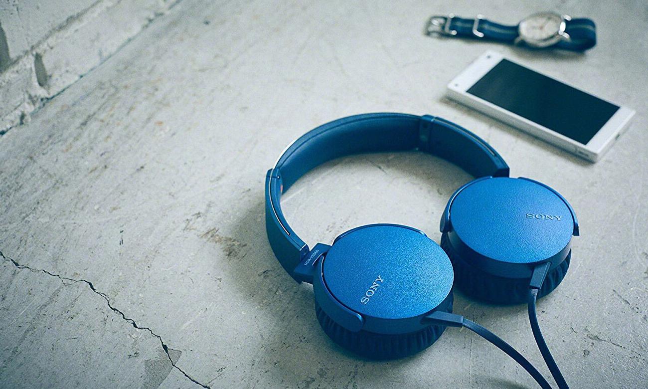 Nauszne słuchawki Sony MDR-XB550APL EXTRA BASS