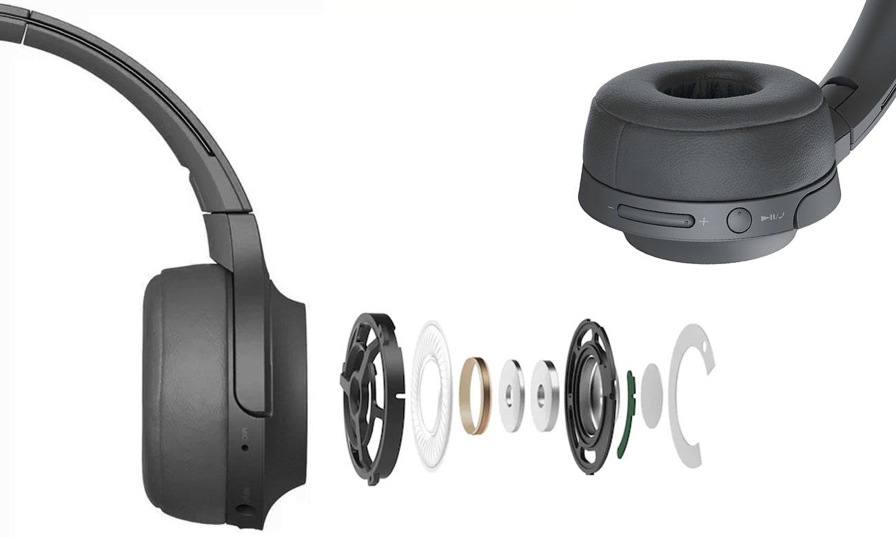 Słuchawki bezprzewodowe Sony WH-H800B z technologią DSEE HX