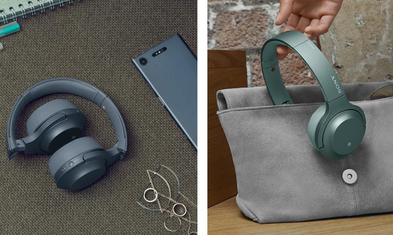 Składana konstrukcja słuchawek nausznych Sony WH-H800B