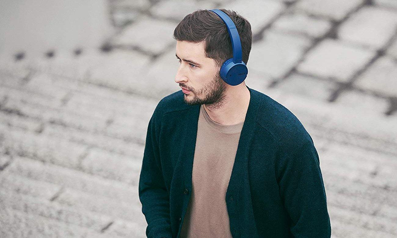 Słuchawki bezprzewodowe Sony WH-CH500L niebieskie