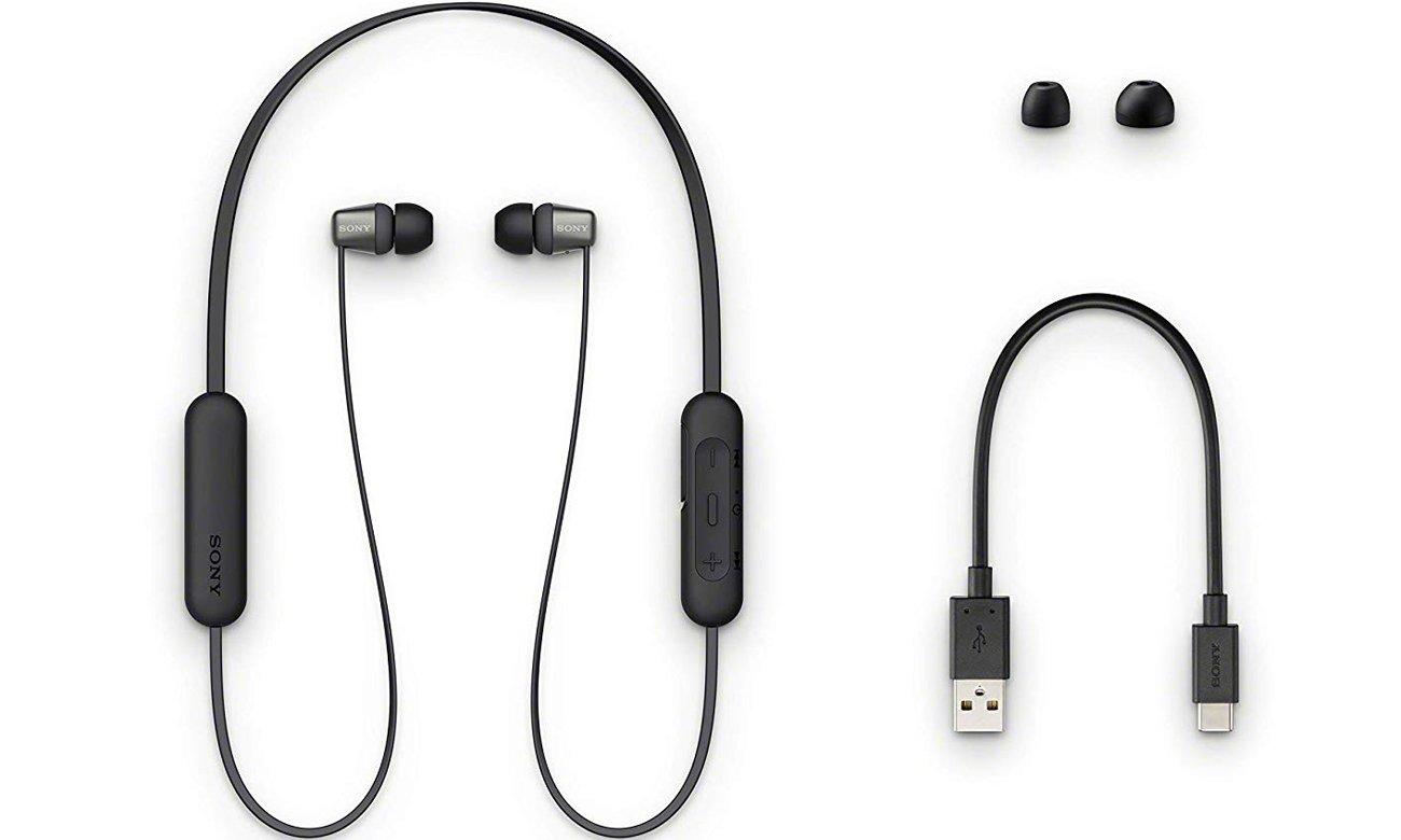 Konstrukcja słuchawek dokanałowych Sony WI-C310