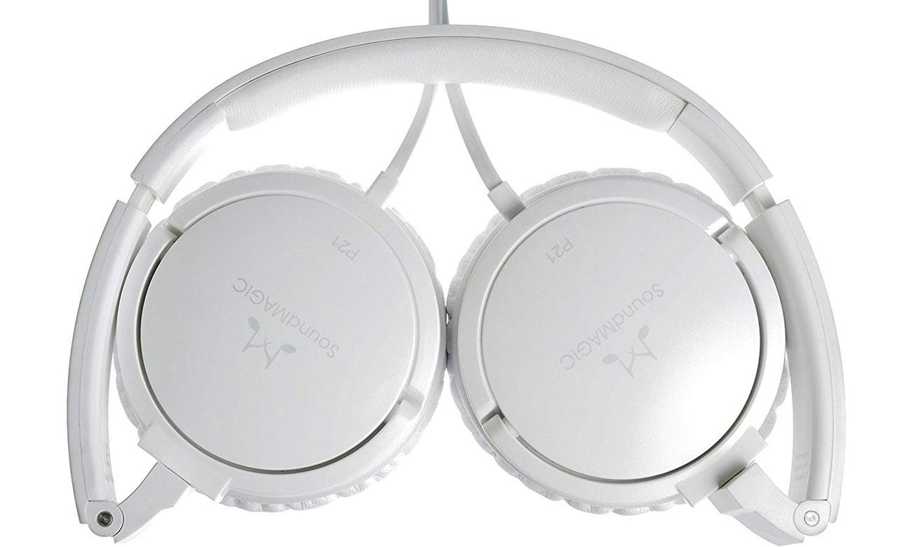 Słuchawki z płaskim przewodem SoundMagic P21