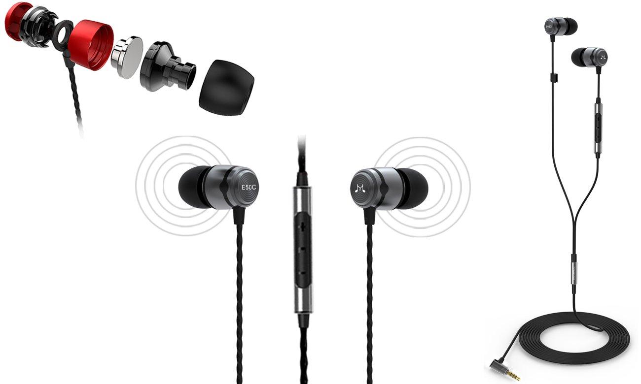Słuchawk douszne z mikrofonem SoundMagic E50C