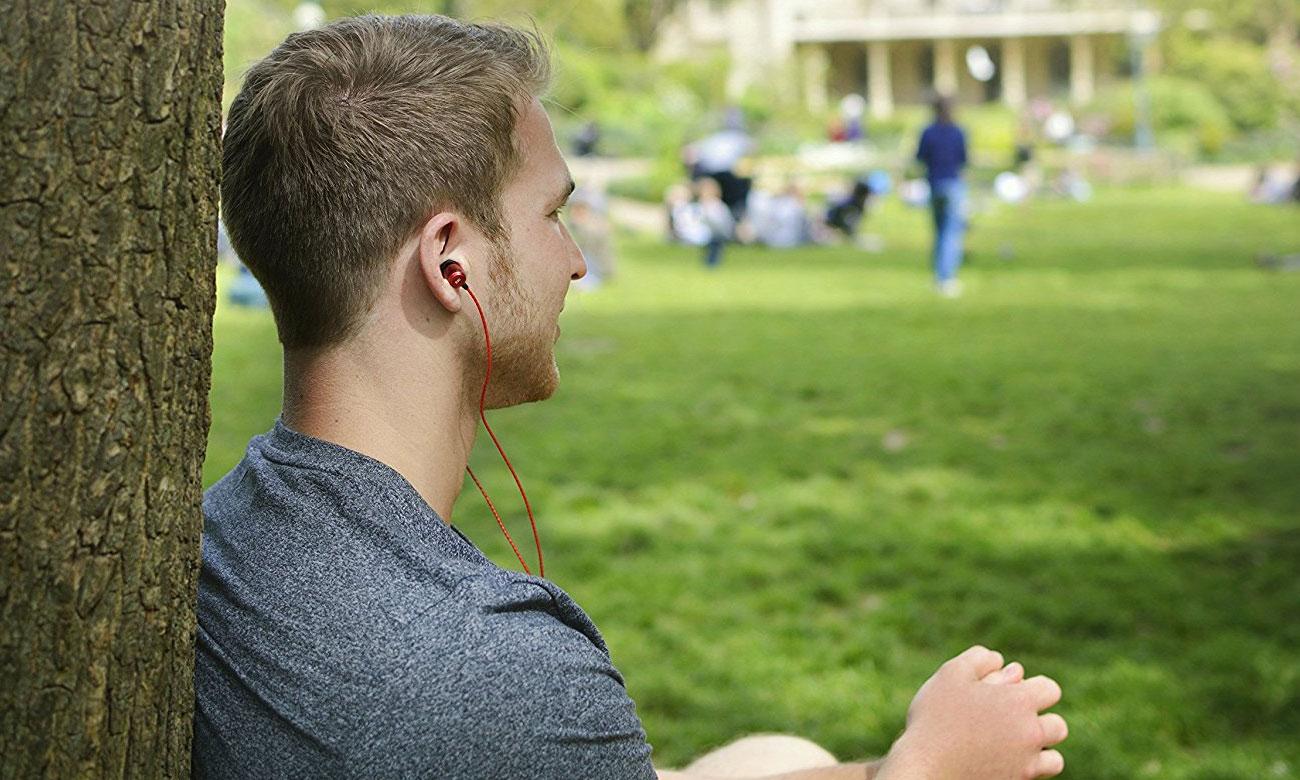 Słuchawki dokanałowe SoundMagic E50S red