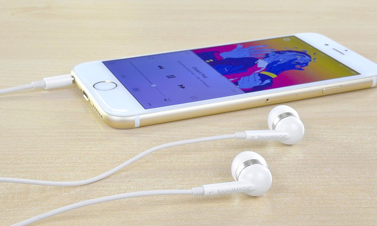 Słuchawki z mikrofonem SoundMagic ES19S białe