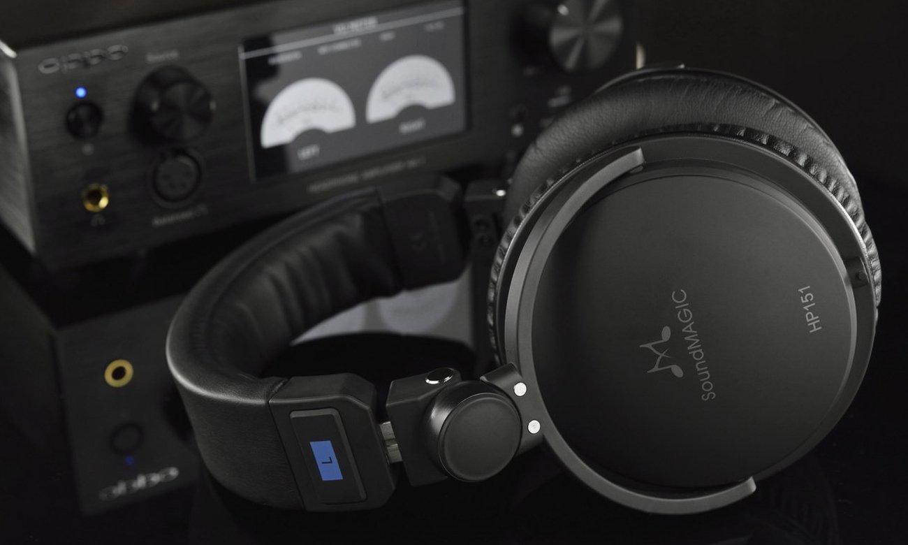 Wygodne słuchaweki nauszne SoundMagic HP151