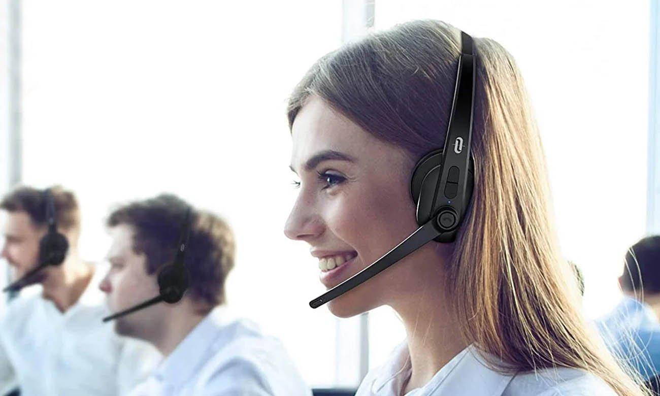 Bezprzewodowe słuchawki dla call center TaoTronics TT-BH041