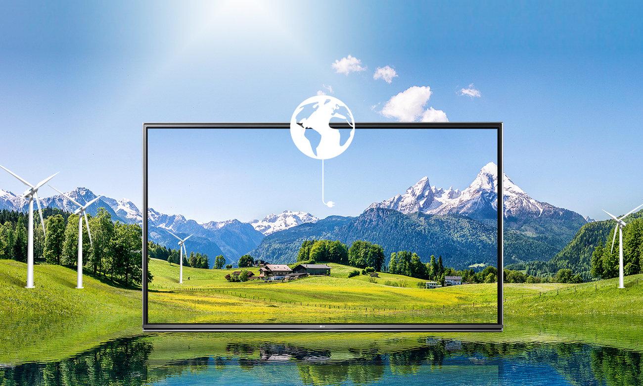 Oszczędność energii z telewizorem LG 55UH6257