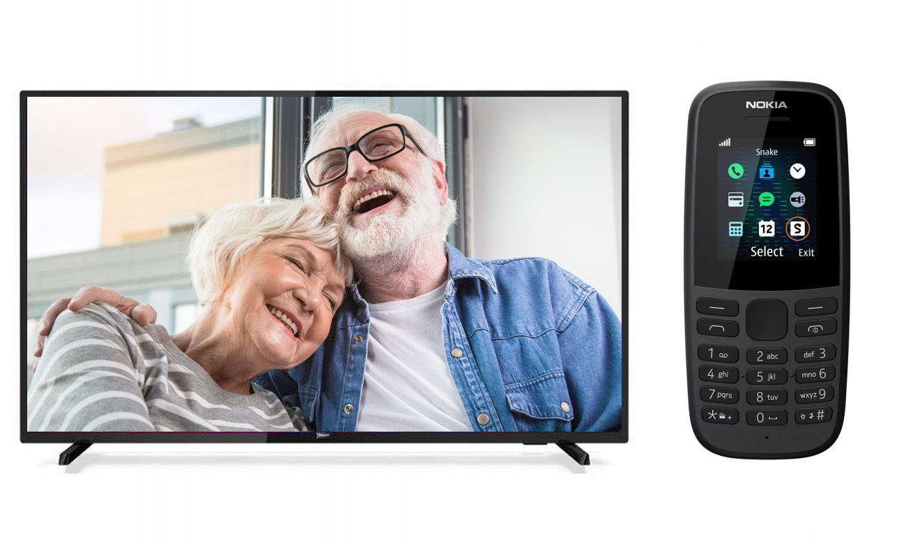 Promocja na Dzień Babci i Dziadka Philips 43PFT5503 + Nokia 105