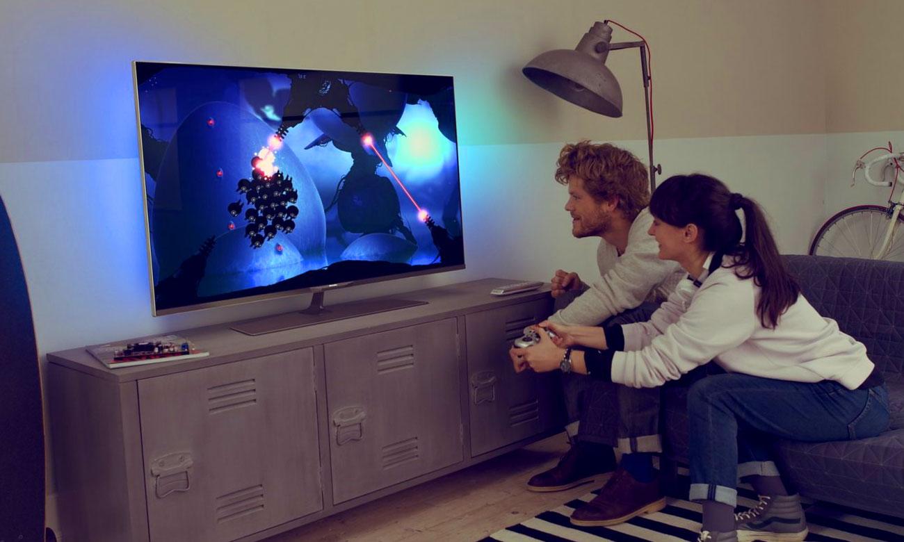 Granie w chmurze na ekranie tv Philips 49PUS6561 z Wi-Fi