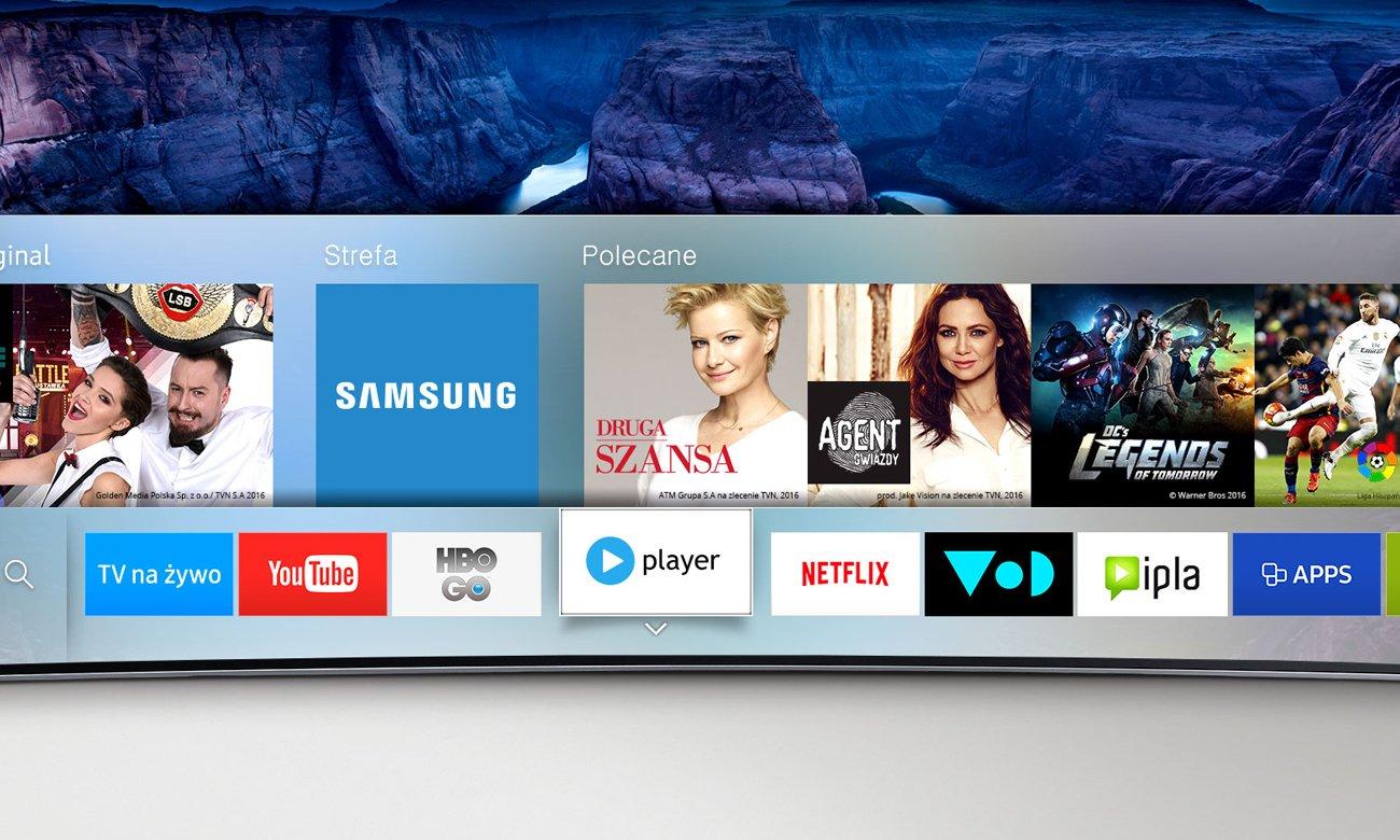 Wygodne sterowanie tv Samsung UE49KU6400