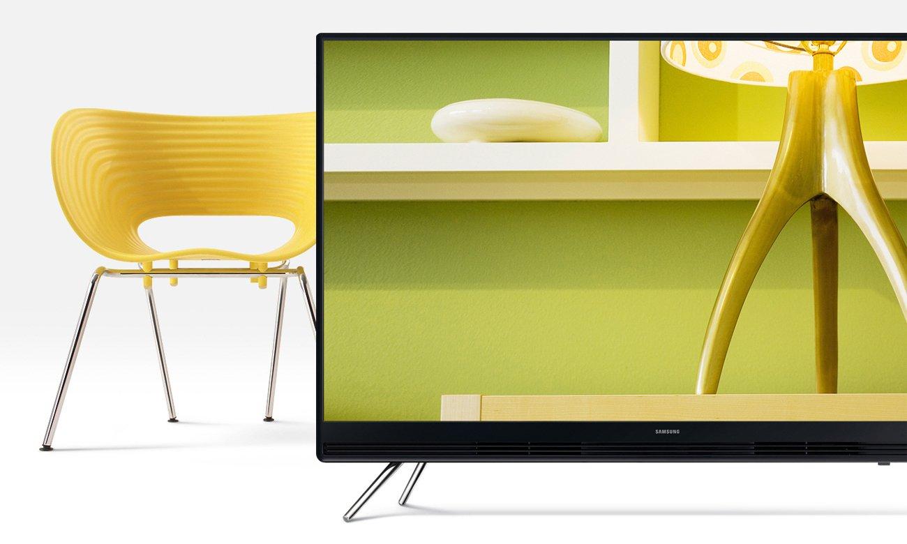Wysoki kontrast i głęboka czerń obrazu w tv Samsung UE49K5100