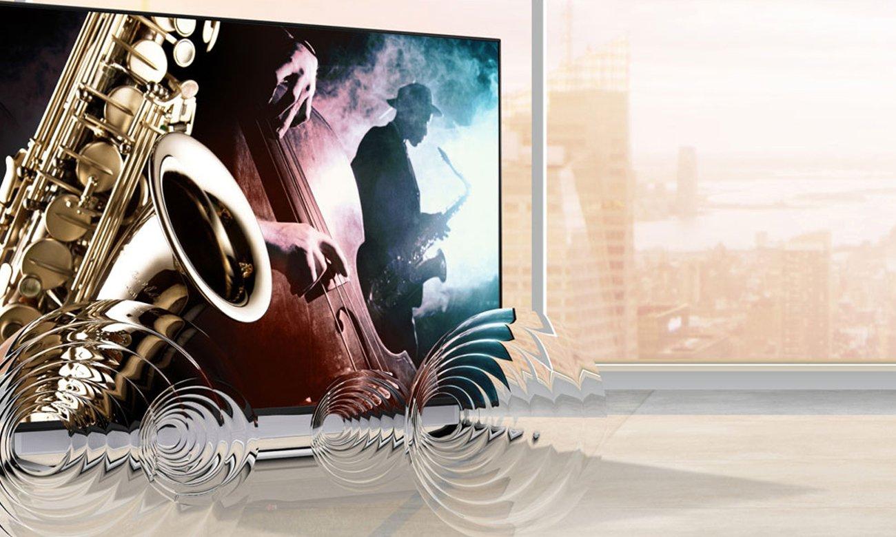 Wysoka moc głośników w telewizorze Samsung UE49K5100