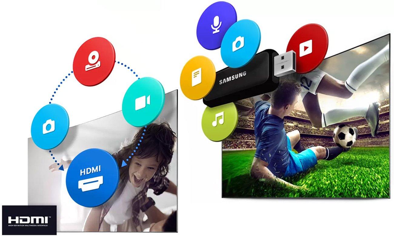 Odtwarzanie treści z nośnika USB na ekranie Samsunga UE49K5100